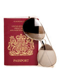 Summer holiday with sunglasses and passport Stock Image