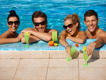 Summer holiday in swimming pool Stock Image