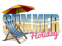Summer holiday text Royalty Free Stock Photo