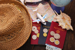 Summer holiday traveling  concept Royalty Free Stock Photo