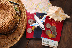 Summer holiday traveling  concept Stock Photos