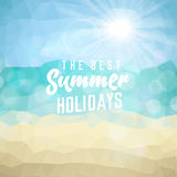 Summer holiday tropical beach background Royalty Free Stock Photos