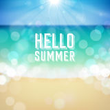 Summer holiday tropical beach background Stock Images