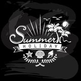 Summer Holiday, Tropical calligraphic designs Royalty Free Stock Images