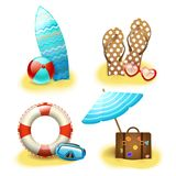 Summer holiday vacation accessories collection Stock Photography