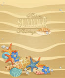 Summer holiday vacation background Royalty Free Stock Photography