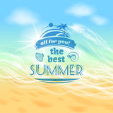 Summer holiday vacation background poster Royalty Free Stock Photo