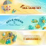 Summer holiday vacation banners set Stock Image