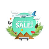 Summer holiday vacation cool sale concept,abstract  illustration Stock Photography