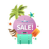 Summer holiday vacation cool sale concept,abstract  illustration Royalty Free Stock Photo