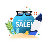Summer holiday vacation cool sale concept,abstract  illustration Royalty Free Stock Image