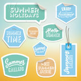 Summer holiday vacation stickers and labels Royalty Free Stock Photography