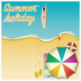 Summer Holiday Vacation Vector Background Stock Photo