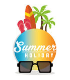Summer holiday and vacations design Royalty Free Stock Image