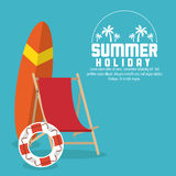 Summer holiday and vacations design Stock Photos