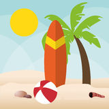 Summer holiday and vacations design Royalty Free Stock Photo