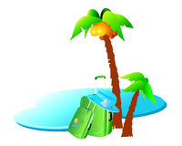 Summer and Holiday Backround. Summer and Holiday  Vector Backround Royalty Free Stock Images