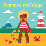 Summer holiday Stock Image