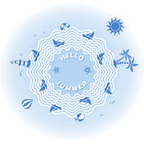 Summer holiday vector illustration Stock Photos