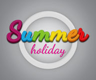 Summer Holiday. Vector summer holiday typography for t-shirt and various more items Stock Images