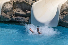 Summer holiday in a waterpark Stock Photography