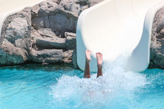 Summer holiday in a waterpark Royalty Free Stock Photography