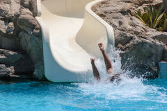 Summer holiday in a waterpark Royalty Free Stock Image