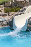 Summer holiday in a waterpark Stock Images