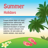 Summer holiday web and print template - tropical island. Stock Images
