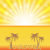 Summer holiday whit palm trees. Royalty Free Stock Images