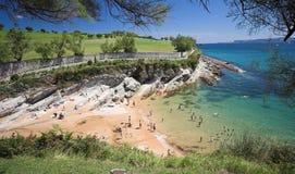 Summer holidays. In Santander, Cantabria, Spain Stock Photo