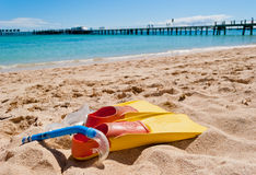Summer holidays. At the beach Royalty Free Stock Photo