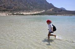 Summer Holidays. Happy summer vacation at sea Royalty Free Stock Images