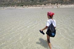 Summer Holidays. Happy summer vacation at sea Stock Photography