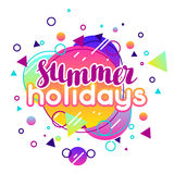Summer holidays. Abstract illustration in vibrant color Stock Image