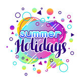 Summer holidays. Abstract illustration in vibrant color Royalty Free Stock Images