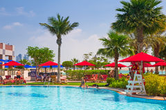 Summer holidays in Abu Dhabi, UAE Royalty Free Stock Image