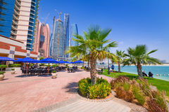 Summer holidays in Abu Dhabi, UAE Stock Photography