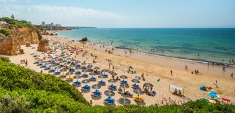 Summer holidays in Alvor beach, Portimao, Algarve royalty free stock image