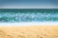 Defocused beach background. Summer holidays background - beach and sea, defocused Royalty Free Stock Photos