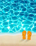 Summer holidays background with beautiful sea water. Stock Image