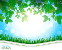 Summer holidays background. Beautiful background for your design stock illustration
