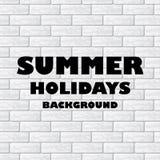 Summer holidays background Royalty Free Stock Images