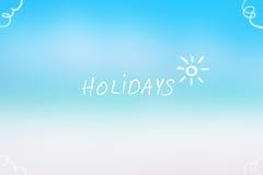 Summer holidays background Royalty Free Stock Image