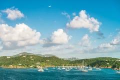 Summer holidays background blue sky sea landscape. Summer holidays background. Beautiful blue sky sea landscape royalty free stock photos