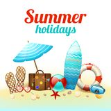 Summer holidays background poster Royalty Free Stock Images