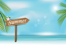 Summer Holidays background, Sea and sky paper art style Royalty Free Stock Photos