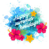 Summer holidays background Stock Images