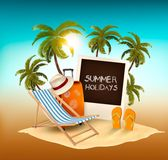 Summer holidays background. Vacation memories. Stock Photography