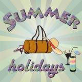 Summer holidays background. Royalty Free Stock Images